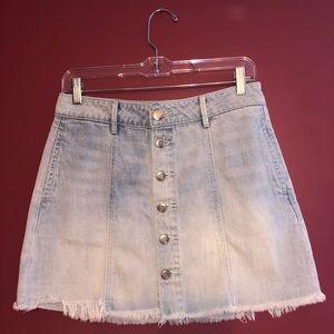 Denim Button-up Mini Skirt